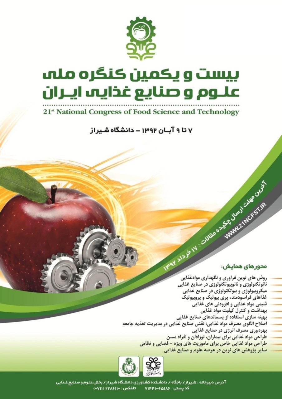 بیست و یکمین کنگره ملی علوم و صنایع غذایی ایران