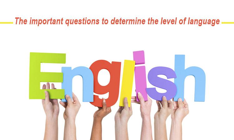 سوال تعیین سطح زبان